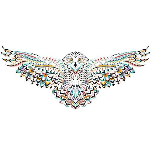Animaux en Bois Puzzle Snowy Owl Snowy Chouette en Bois Puzzles pour Adultes Enfants Jouets éducatifs Jeux de Puzzle DIY Cadeaux d'artisanat (Color : 20.2x8.5in 258pcs)