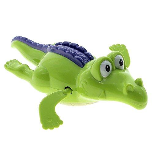 VANKER Enfants Bébé Crocodile Jouet de Bain Piscine Décor Couleur Aléatoire