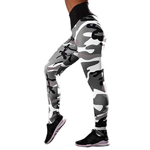 SHOBDW Pantalones Mujer Camuflaje Informal Imprimir Estampado Fresco Cintura Alta Leggings Elásticos Fitness Deportes Gimnasio Mallas para Correr Pantalones Pitillo De Yoga Capri Ajustados