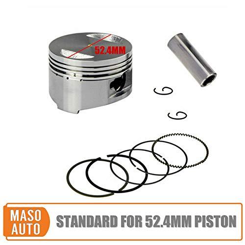 1 Set Kolbenring Pitbike Pit Dirt Bike Kolbensatz,Ein Standard-Ersatzsatz für alle 110cc bis 125cc Motoren mit 52,4-mm-Kolben und 15-mm-Kolbenbolzen