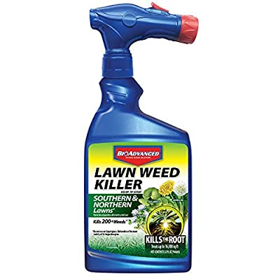 BioAdvanced 705110A Root Killer for Southern and Northern Lawn Weeds, 32-Ounce, Ready-to-Spray