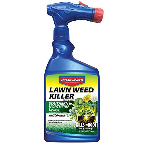 BioAdvanced 705110A Root Killer for Southern & Northern Lawn Weeds, 32-Ounce, Ready-to-Spray