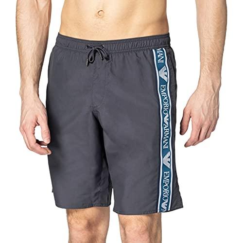 Emporio Armani Swimwear Bermuda Bold Logo Tape Costume da Bagno, Black, 48 Uomo