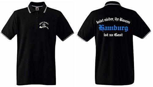World-of-Shirt Herren Retro Poloshirt Hamburg kniet nieder Ihr Bauern|XXL