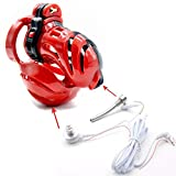 SEX-LUCKY FAT GIRL Electric Shock Type red Interesting Men's Exercise Equipment (45mm)-F33