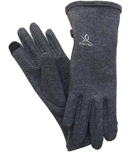 HEAD Sensatec Touchscreen Ladies Digital Running Gloves (Small, Heather (Gray))