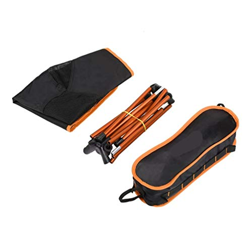 Silla de Camping portátil Sillas Plegables de Pesca Aleación de Aluminio (Negro)