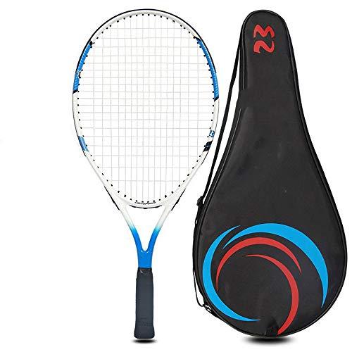 Juego de Raquetas de Tenis para niños, Raqueta de Tenis portátil de Compuesto de Carbono con Bolsa de Almacenamiento y Pelota para niños de 7 a 9 años, Juego de bebés
