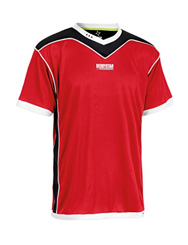 Derbystar Trikot Brillant Kurz, 116/128, rot schwarz, 6000128320