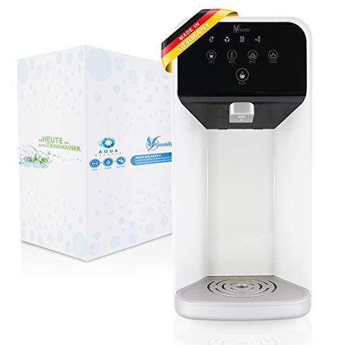 aunity®️ Aqua Balance II - Wasserfilter Anlage - Osmoseanlage Trinkwasser - sofort 4 Verschiedene Temperaturen - reichert Anionen&Mineralien an