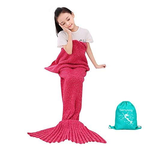 SENYANG Meerjungfrau Decke meerjungfrau Decke für Kinder, alle Jahreszeiten Schlafsack für Kinder, Meerjungfrau-Schwanz-Decke für Mädchen Geschenke, Geburtstags Geschenke