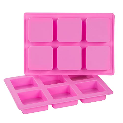 Webake Silicone Brownie Pan 2 Pack Square Bar Molds For Baking Cupcake Cheesecake Cornbread Muffin Sponge Cake Soap Resin Epoxy Casting