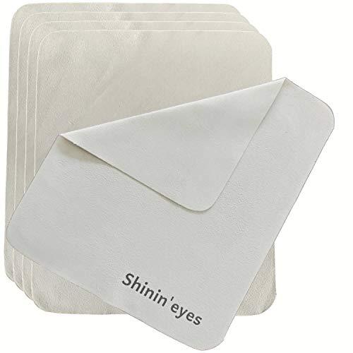 Shinin'eyes セーム革 めがねふき メガネ拭き 5枚セット 【毛髪の1/10万の繊維】145×175mm
