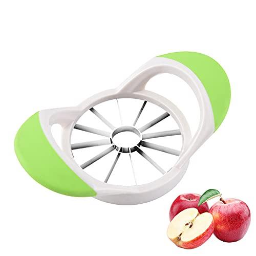 Apfelschneider Edelstahl,Birnenteiler,Apfelteiler Obstschneider Apfelstecher Apfelkernausstecher Apfelentkerner,Apfelteiler zum Zerschneiden,Fruchtteiler,Entkerner mit 12 Klingen ideal für Äpfel