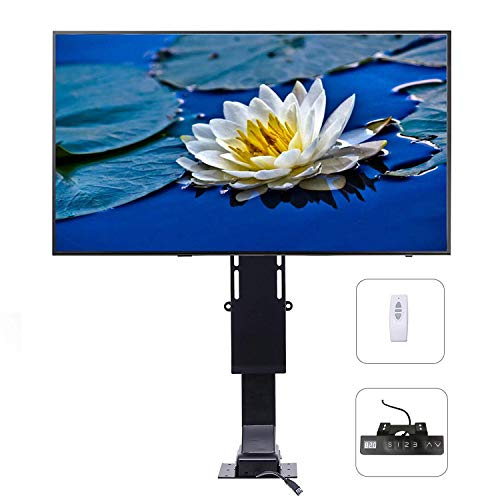 """CO-Z Motorized TV Mount Lift Mechanism for Wall or Cabinet with Remote Control for 32 to 70 Inch Screens, VESA Mount Adjustable Height Up to 72"""",154 lb Capacity, Fast Lift Speed 1""""/Second"""