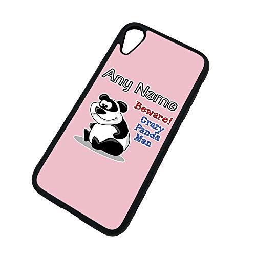 UniGift Coque en TPU pour iPhone X/XS/Xs Max/XR Motif animal Inscription en anglais « Crazy Panda Man », TPU., rose, iPhone XR