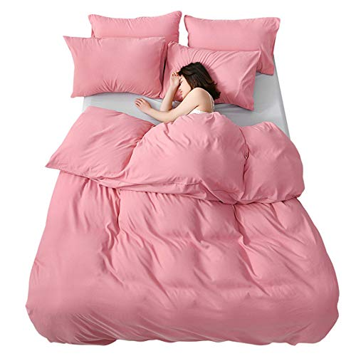Washed Microfiber Bedding Weight Microfiber Duvet Cover Set with Snap Buttons