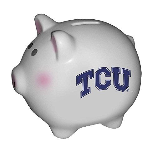 The Memory Company NCAA Texas Christian University Official Team Piggy Bank, Multicolor, One Size