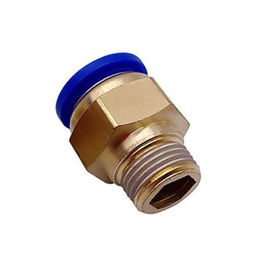 FIDALIKA Conectores De Tornillo Neumáticos De Tipo Recto Conectores Rápidos De Conexión, Tubo De Manguera De 4 Mm-16mm, Un Toque, Empuje hacia El Cobre De Los Accesorios De Gas (Size : PC10 04)