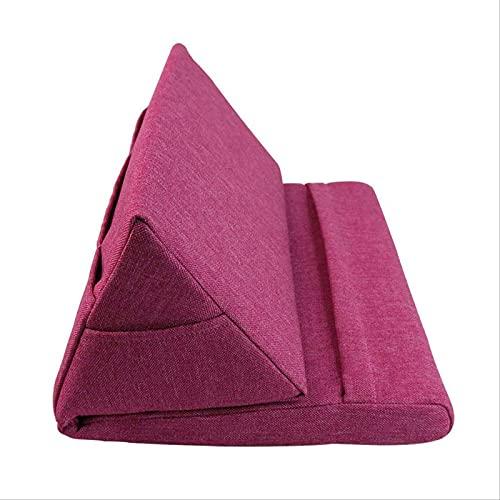 Soporte De Tablet A para iPad, Almohadilla De Almohada, Almohadilla Plegable, Almohadilla para Casa, Oficina, Viaje Rojo