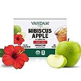 VAHDAM, Premezcla de Té Frío con Hibisco y Manzana - 20 Bolsitas Individuales | 100% Té Verde Orgánico del Himalaya | Sin Ingredientes Artificiales | Refresco Pre-entreno