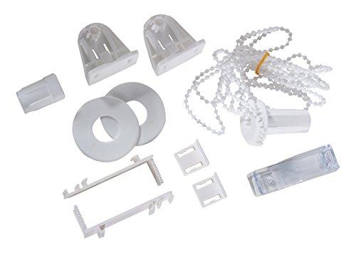 K-home Klemmträger und Zubehör Montage-Set für Klemmfix Doppelrollo Madrid + Denia, Plastik, weiß, 6,5 x 1,5 x 3,5 cm