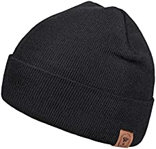 OZERO Daily Skully Beanie Hat,Thick and Soft Knitting Stretch to Fit Most Black
