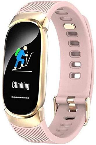 GANG Fitness Tracker Qw16 Pulsera Inteligente, Pulsera de Forma de Fitness con Monitor de Frecuencia Cardíaca Impermeable I67 Podómetro Sport Watch Sport Fitness Tracker clásico/R