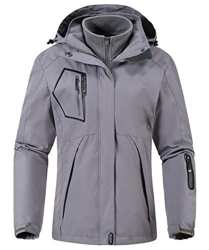 Gopune Women's Waterproof 3 in 1 Ski Jacket Winter Windproof Snow Coat