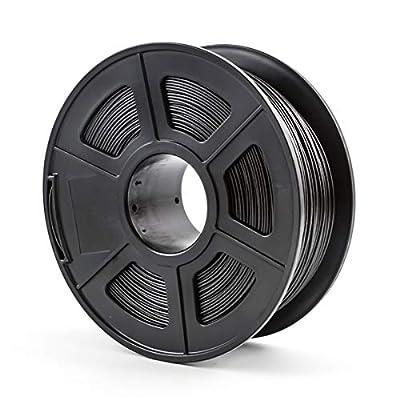 3D Printer Filament PLA Materials 1.75mm 1KG Spool ,Dimensional Accuracy +/- 0.02 mm(Black)
