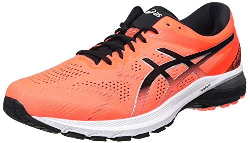 ASICS Mens GT-2000 8 Running Shoe, Sunrise RED/Black,42.5 EU