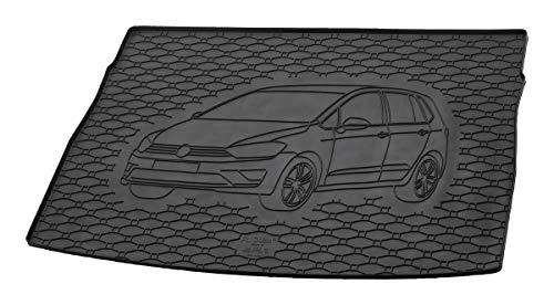Gummi Kofferraummatte mit Fahrzeug-Motiv in fahrzeugspezifischer Passform AZ31000046