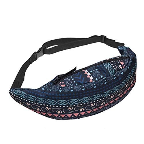Frauen Fanny Packs 3D-Druck-Taille-Packung Neue Taille Tasche Mode Bum Bag Reisetasche Yab908