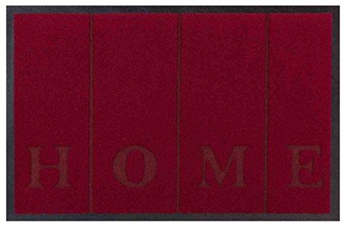 Eco+Mat 12693 - Alfombrillas de Fibra sintética, Color Negro, 60 x 135 cm, 1 Unidad, Fibra sintética., Burdeos, 50 x 70 cm