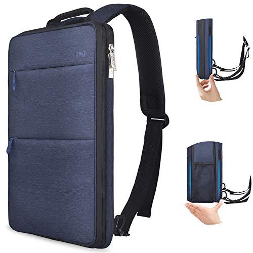 ZINZ Schlank und Erweiterbar 15 15,6 16 Zoll Laptop Rucksack mit USB Ladeanschluss, Wasserdicht Notebook Tasche für Männer und Frauen - Blau