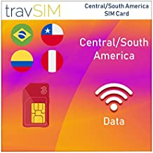 travSIM Three UK Prepaid Card Central South America SIM 3GB Data Valid For 60 Days – Free Roaming In 71+ Destination Countries Including Europe (Germany Spain UK France Portugal Italy Austria Belgium)