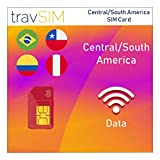 TravSIM Central Sud America SIM Card (tre UK SIM) per 30 giorni validi – 20GB dati mobili – Colombia Brasile Nicaragua Panama Costa Rica Perù El Salvador Cile Guatemala Uruguay UK Tre SIM Card