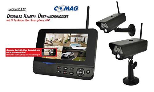 COMAG Digitales Kamera Funk-Überwachungs-Set Überwachungskamera Videoüberwachung mit IP Funktion über Smartphone App