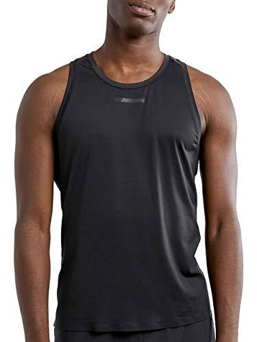 Craft Vent Mesh Singlet heren zwart/Fiesta 2020 loopshirt mouwloos