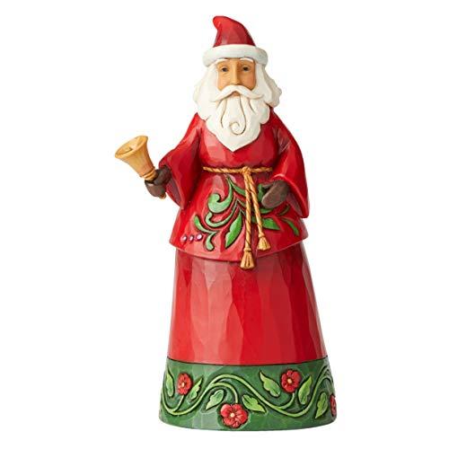 Jim Shore Heartwood Creek Babbo Natale con Campana, 19 cm