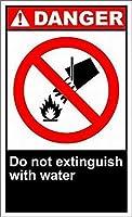 屋内外への取り付けが簡単水危険標識、建設区域の安全警告ビジネス標識商業用金属標識金属アルミニウムで消火しない