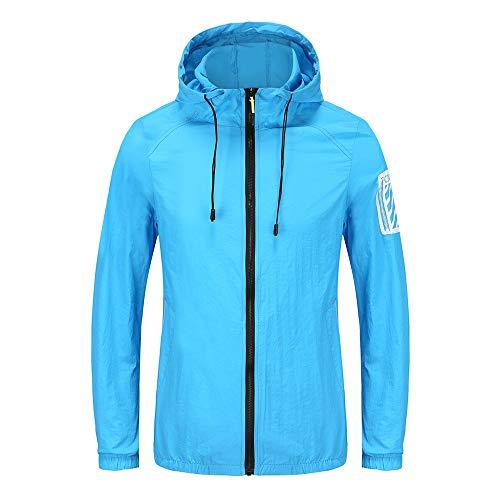 AILMY Men's Cycling Jacket Windproof Breathable Lightweight Summer Outdoor Mountain Bike Jacket Blue