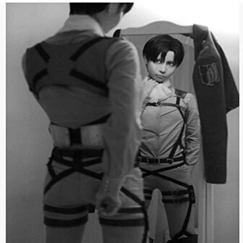 hengGuKeJiYo Titan Shingeki no Kyojin Recon Corps Arnés cinturón Hookshot Attack Costume Cinturones Ajustables Cinturones de Cosplay