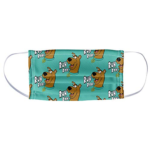Scooby-Doo Ruh Roh Face Pattern 1-Ply Reusable Face Mask Covering, Unisex