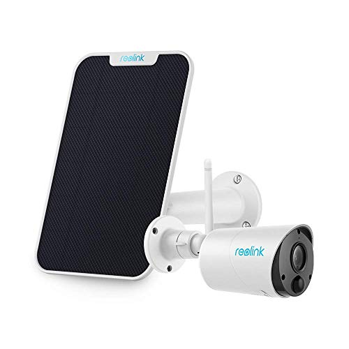 Reolink Argus Eco with Solar Panel (White) Bundle - Wireless Camera Rechargeable Battery Solar Capable Cloud Storage 1080P Home Security IR Night Vision SD Socket 2-Way Audio Motion Detection