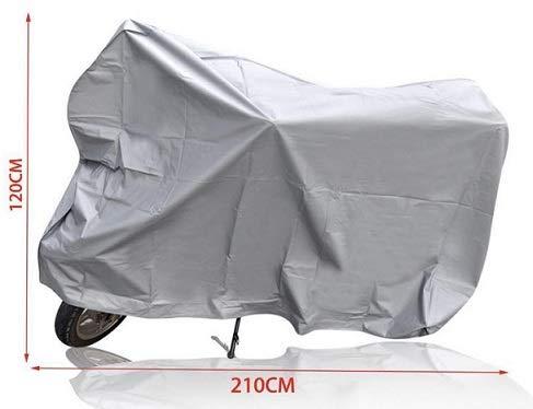 Funda para Moto, Cubierta Exterior, plástico Cubre Motocicleta, protección contra la Lluvia,Impermeable, Protector, Suciedad (210 * 120 CM)