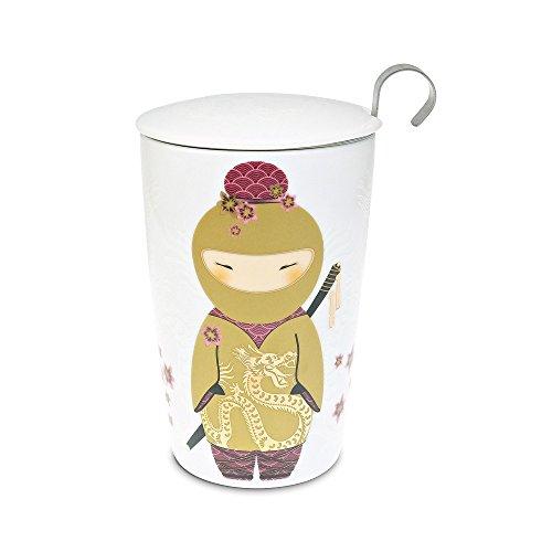 """TEAEVE® Teetasse mit Sieb und Deckel, """"Little Ninja Gold"""", f"""