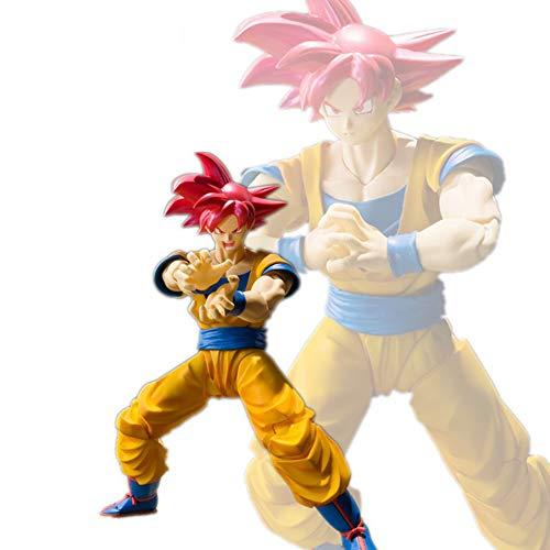 JIANCHI Figuras de acción de Anime, Modelo de Personaje de Anime, Goku de Dragon Ball, Juguete Infantil Adulto Manga Hero, Decoración para el hogar, 17 cm,C