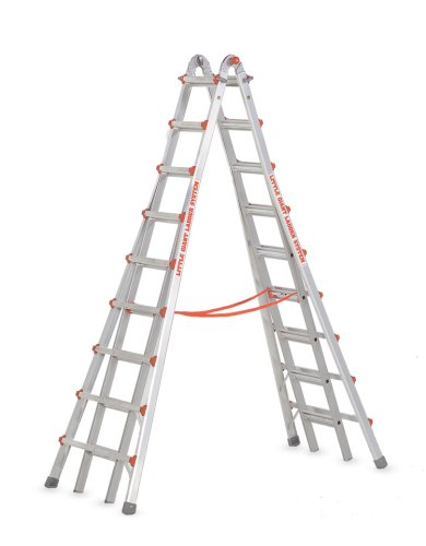 Little Giant Ladders 10110 SkyScraper 300-Pound Duty Rating Adjustable Stepladder, 17-Foot