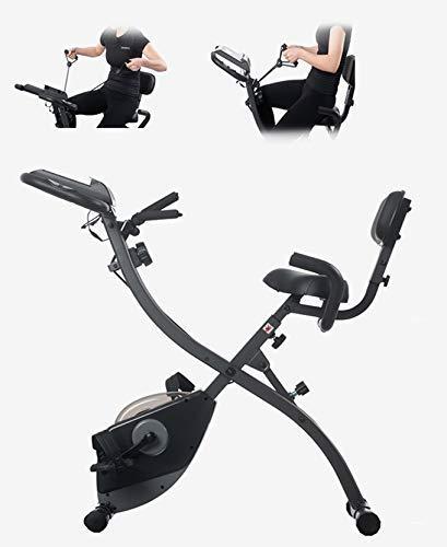 YLJYJ Cyclette Pieghevole, X-Bike con Sistema di Banda di Resistenza, Biciclette da Ciclismo Indoor, Volano 10KG, Display a LED, Home Trainer Multifunzionale F (Cyclette)